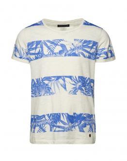 JACK&JONES Floral T-Shirt Bianca Blu 12092238 - Bianca