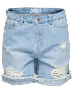 ONLY Onlselma Low Boyfriend Blue Denim Shorts Woman Pantaloncini Jeans Blu Strappati Donna 15134781 - Denim