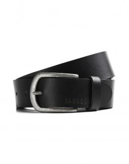 JACK&JONES Jacace Cinta Belt di Pelle Leather Black Nera 12118200 - Nera