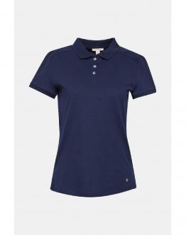 ESPRIT Piqu? Polo Shirt With Stretch And Organic Cotton Navy Blu 039EE1K008 - Blu