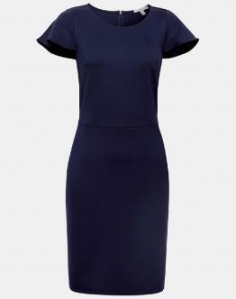 ESPRIT Abito Stretch Jersey Sheath Dress With Cap Sleeves Blu 059EE1E019400 - Blu
