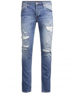JACK & JONES Glenn Jeans Original Dettagli Strappi Slim Fit Blue Denim 12126851 - Jeans
