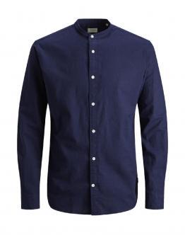 JACK & JONES Summer Band Shirt L/S Camicia Maritime Blue Blu 12146109 - Blu scuro