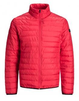 JACK & JONES Chicago Puffer Jacket Piumino Tango Red Rosso 12147203 - Rosso