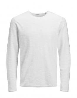 JACK & JONES Slub Knit Crew Neck Cloud Dancer Bianco 12148035 - Bianca
