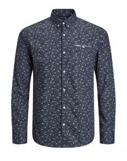 JACK & JONES Paris Shirt Fantasia Navy Blazer Blu 12151960 - Blu scuro