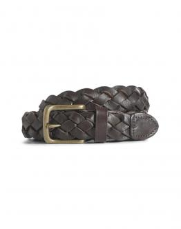 JACK & JONES Parker Leather Belt Cintura Black Coffee Marrone 12154200 - Marrone