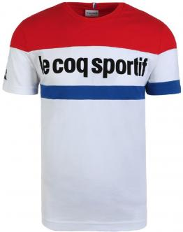 LE COQ SPORTIF Tricolore T-Shirt n?1 Optical White 1920483 - Bianca