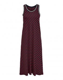 ONLY Maya Calf Dress Abito Lungo Rigato Blu Rosso 15180156 - Blu rossa