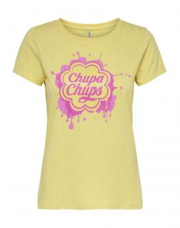 ONLY Chupa Chups T-Shirt Popcorn Print Giallo 15184607 - Giallo