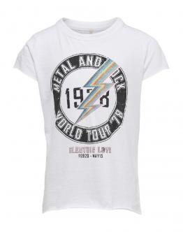 ONLY KIDS Konrock S/S Top T-Shirt White Bianco 15178412 - Bianca