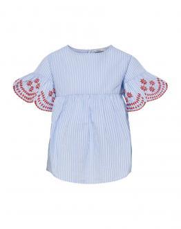 ONLY KIDS Konanna Peplum Top Bright White Celeste 15178464 - Bianca