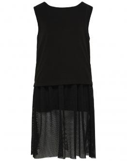 ONLY KIDS Konkaja Mesh Dress Abito Tulle Black Nero 15179050 - Nero