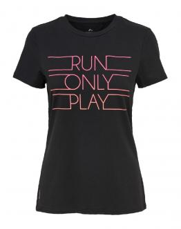 ONLY PLAY T-Shirt Kayle Slim Run Black Print 15165639 - Nera