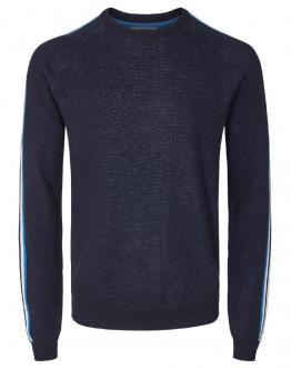SOLID Pullover Maglia Spring Dettagli Maniche Insigna Blu Scuro 6192101 - Blu