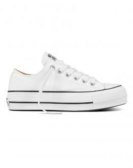 CONVERSE Chuck Taylor All Star Platform Canvas Low Top Bianca 560251C - Bianco