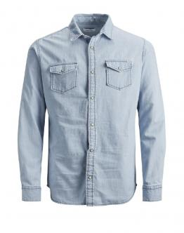 JACK&JONES KIDS JJewestern Sheridan Shirt JR Camicia di Jeans 12148417 - Denim