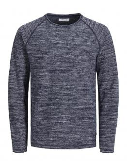 JACK&JONES KIDS JjeTerry Maglia Sweat O-Neck Jr Blu 12165301 - Blu