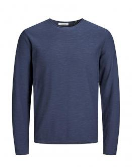 JACK & JONES KIDS Eslub Knit Crew Neck Maglia Denim Blue 12165398 - Blu