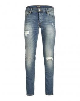 JACK&JONES JjiGlenn Jjoriginal Jeans Denim Strappi 12169311 - Denim