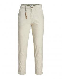 JACK&JONES Pantalone di Lino Iace Linen Regular AKM 985 Panna 12172146 - Sabbia