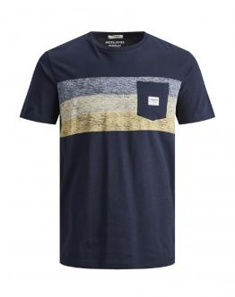 JACK&JONES KIDS Jorlangley T- Shirt Slim Navy Blu 12167775 - Blu