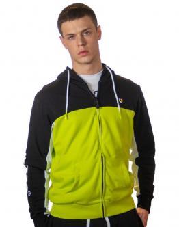 LONDINESE Joshua Felpa Full Zip Big Logo Verde Acido M42434022 - Verde acido