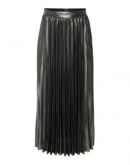 ONLY OnlHailey Pleated Skirt Gonna Ecopelle Black Nero 15189586 - Nero