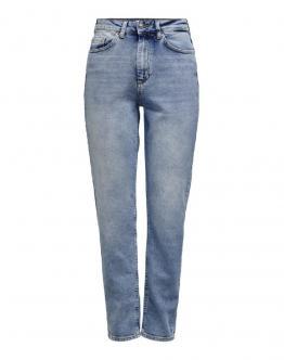 ONLY Onlveneda Life Mom Jeans Light Blue Denim 15193864 - Denim chiaro