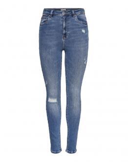 ONLY Mila Jeans High Waist Ank Dest Vita Alta Denim  15195399 - Denim