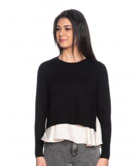 ONLY OnlLatischa Satin Maglia Pullover Knit Black Nero 15197630 - Nero