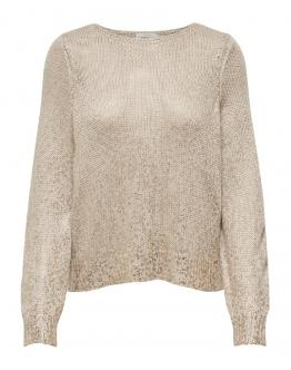 ONLY Maglia Onlsparkle Pullover Knit Pomice Stone Beige 15201034 - Beige