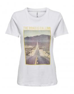 ONLY OnlIndre Life Road Top T-Shirt White Bianca 15203571 - Bianco