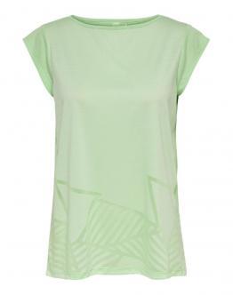 ONLY PLAY OnpMagdalena Burnout Tee Shirt Atletica Green Verde 15195160 - Verde