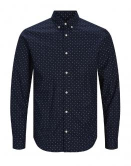 PREMIUM by J&J JprBlalogo Stretch Shirt Camicia Slim Fit Navy Blu 12169911 - Blu
