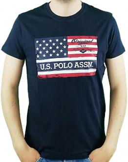 U.S.POLO T-Shirt Flag Usa Blu 58852 50313 - Blu