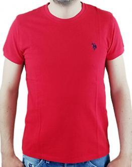 U.S.POLO T-Shirt Piquet Rossa 58858 43472155 Red - Rossa
