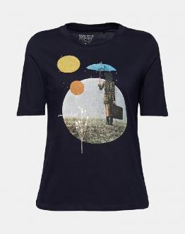 ESPRIT T-Shirt Blu 011EE1K332400 - Blu