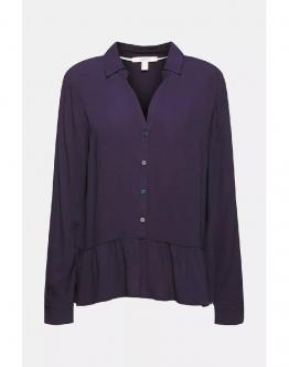 ESPRIT Camicia Basica Blu 021EE1F301400 - Blu
