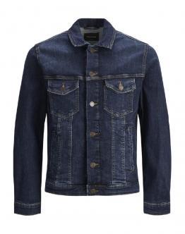 JACK&JONES JJialvin Giubbino di Jeans Scuro 12166869 - Jeans