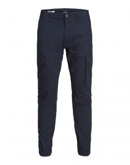 JACK&JONES JJipaul Pantalone Cargo con Molla Blu 12169582 - Blu