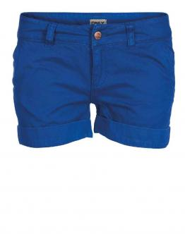 ONLY Devana Turn Up Shorts Blue Pantaloncini Tessuto Donna Blu 15074705 - Blu