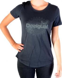 DESIGUAL T-Shirt Essential Gris Vigore Anthracite 17WTRK27042 - Grigio