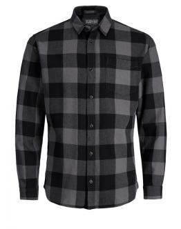 JACK & JONES Camicia Jorfrisk Shirt Asphalt Nera 12123770 - Nera