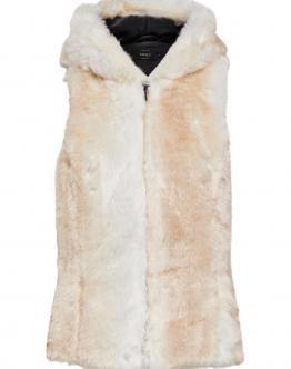 ONLY Lamy Hood Fur Pelliccia Sintetica Cloud Dancer Bianco 15137632 - Bianca