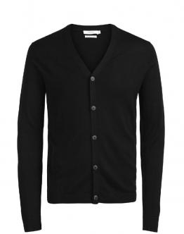 JACK & JONES Cardigan Jprmark Knit Finest Merino Wool Black Nero 12113634 - Nero