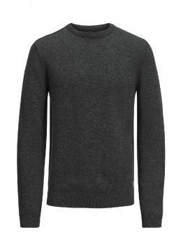 JACK & JONES Bannister Knit Crew Neck Charcoal Gray Grigio Scuro 12127400 - Grigio