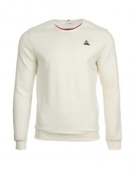 LE COQ SPORTIF Felpa Tricolore Sweat White Bianco 1820677 - Bianca