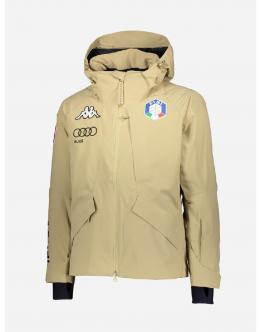 KAPPA 6Cento 611 FISI Giacca da Sci Sabbial da Gara - Sky Jacket - Sabbia