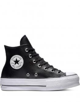 CONVERSE Chuck Taylor All Star Lift Leather High Top Platform Black Nero 561675C - Nero